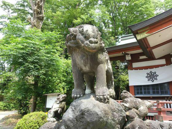 寒田神社 狛犬