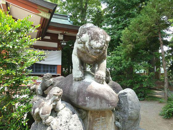 松田町 寒田神社 狛犬