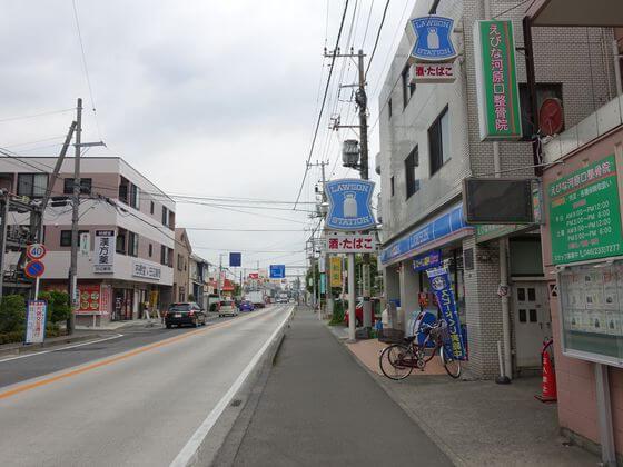 厚木駅 県道43号線