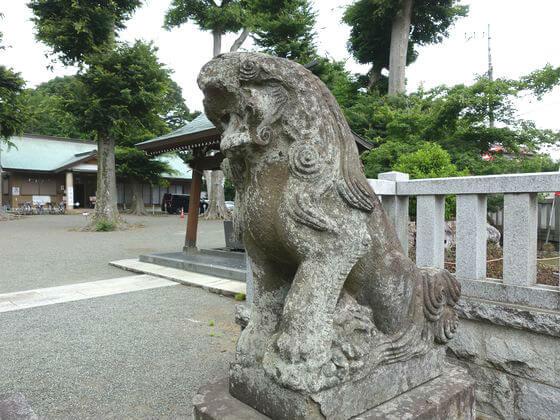 海老名 有鹿神社 狛犬