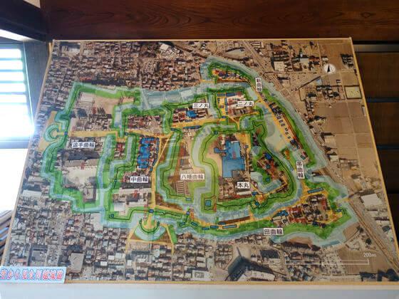 川越城縄張図