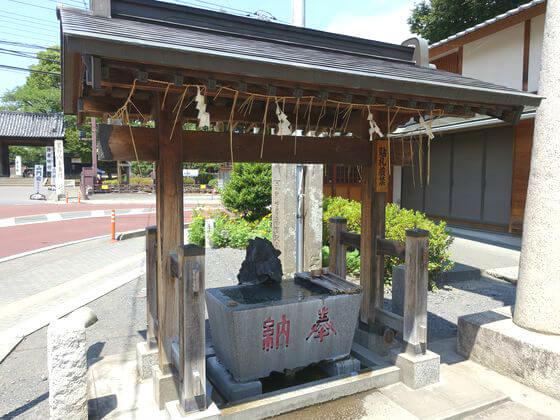 仙波日枝神社 手水舎