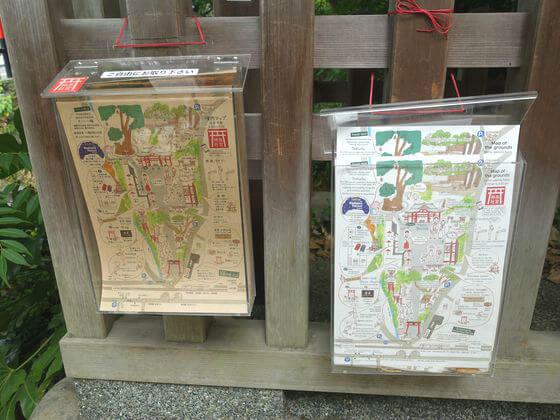 来宮神社 境内マップ