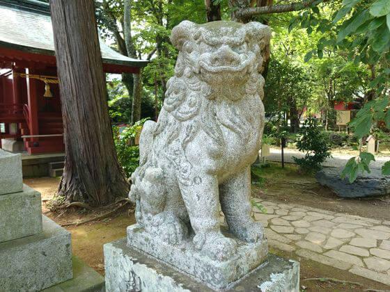 伊豆山神社 狛犬