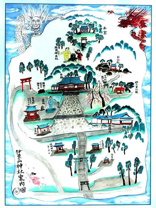 伊豆山神社 境内図