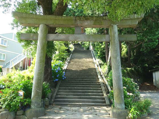 伊豆山神社 鳥居