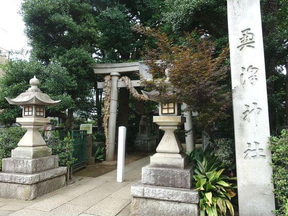 奥沢神社 鳥居