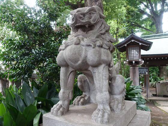 奥澤神社 狛犬