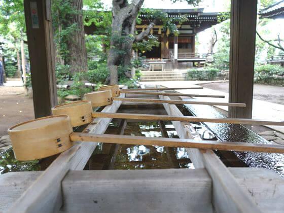 奥沢神社 手水舎