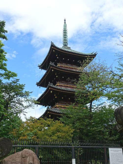 寛永寺 五重塔