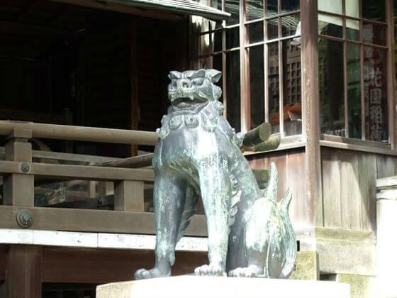 上野 五條天神社 狛犬