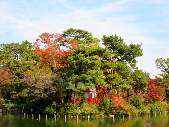 大田区 洗足池公園 紅葉
