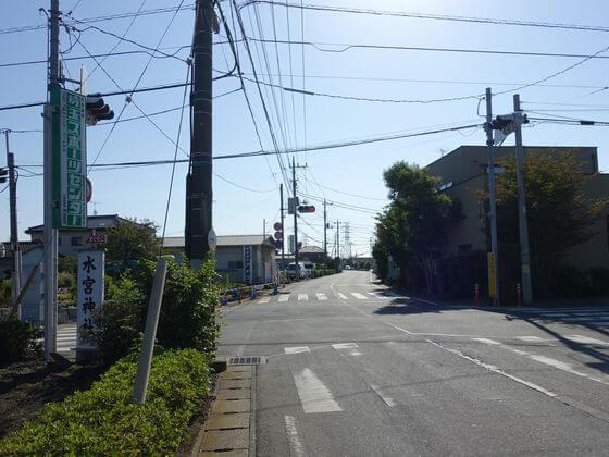 水子貝塚公園交差点
