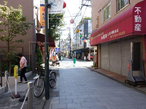立会川駅 商店街