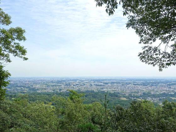 日和田山 山頂 景色