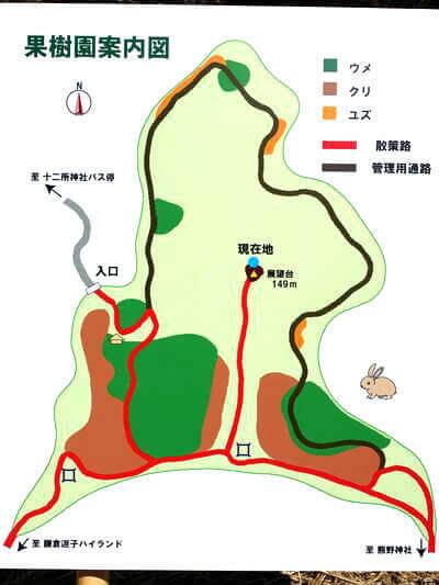 十二所果樹園 園内図