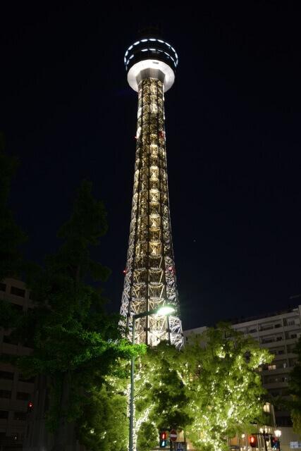 横浜マリンタワー 夜景