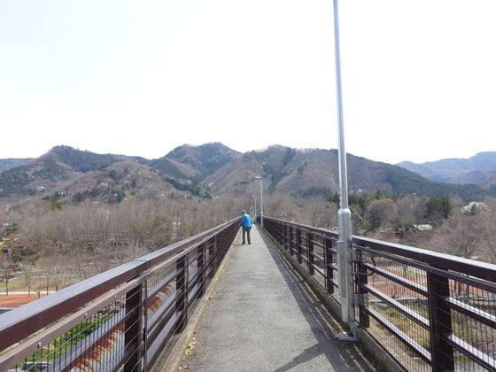 長瀞 金石水管橋