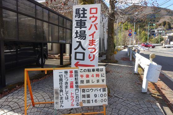 松田 ロウバイ 駐車場