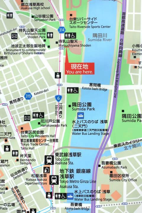 隅田公園 梅めぐり散歩道 場所