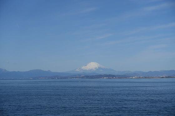 江島神社 富士山