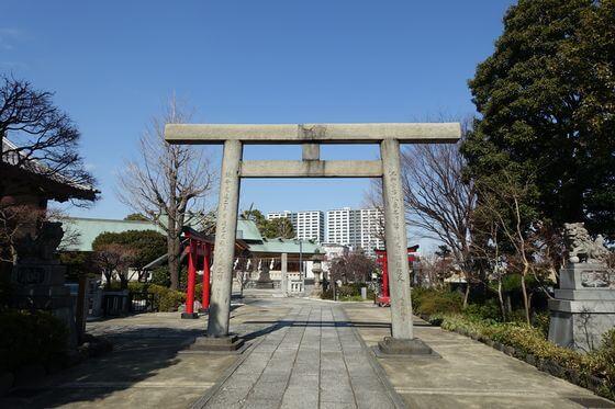 石浜神社 第一鳥居