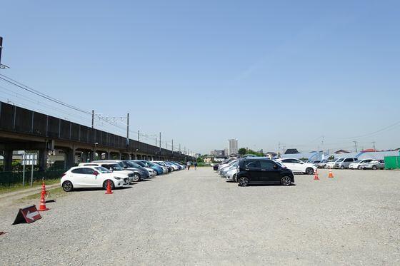 京成バラ園 駐車場
