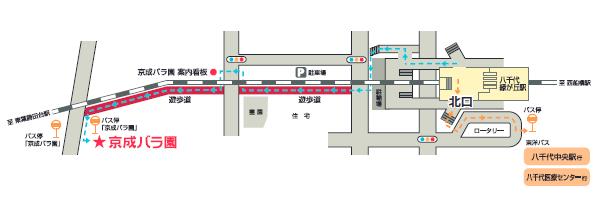 京成バラ園 徒歩