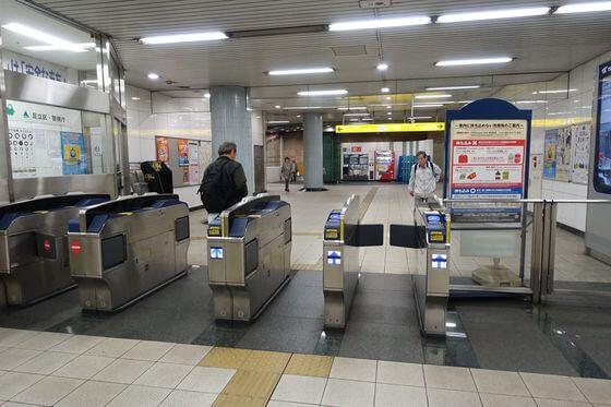 青井駅 改札口