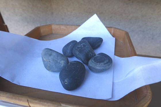 所澤神明社 歯固め石