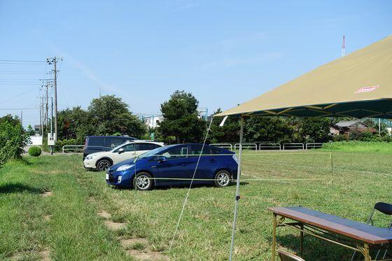 蓮田ひまわり畑 駐車場