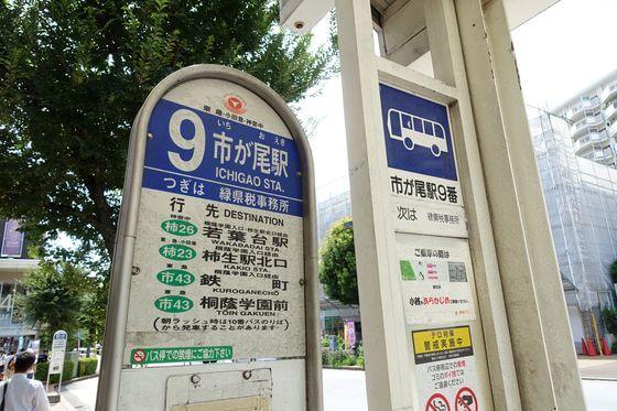 市が尾駅 バス 早野