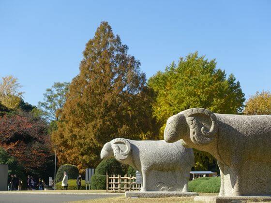 上野 東京国立博物館 紅葉