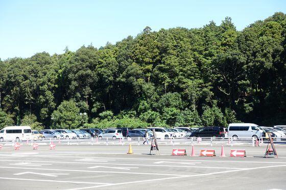 里山ガーデンフェスタ 駐車場