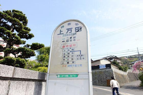 上万田バス停