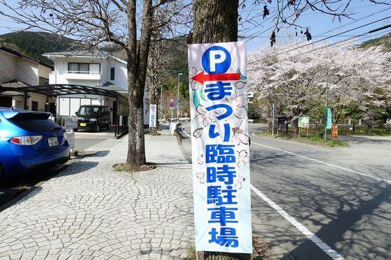 寄しだれ桜 駐車場