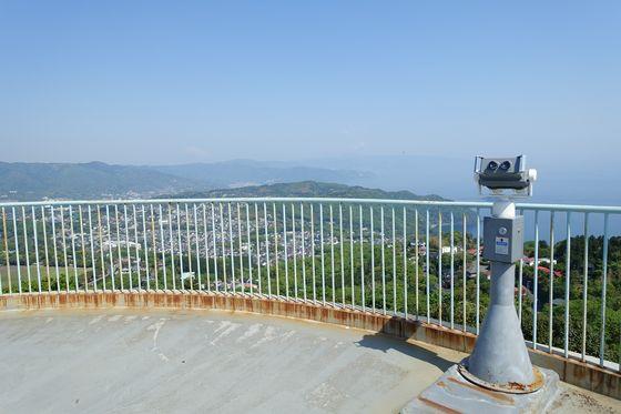 小室山リフト展望台 望遠鏡