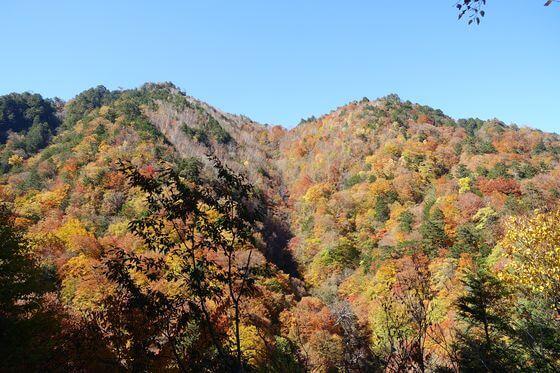 西沢渓谷 滝の上展望台 紅葉