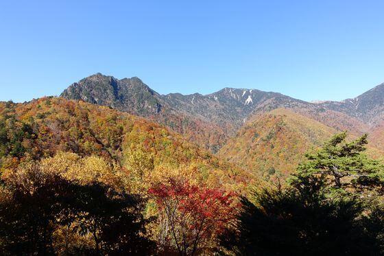 西沢渓谷 展望台 紅葉