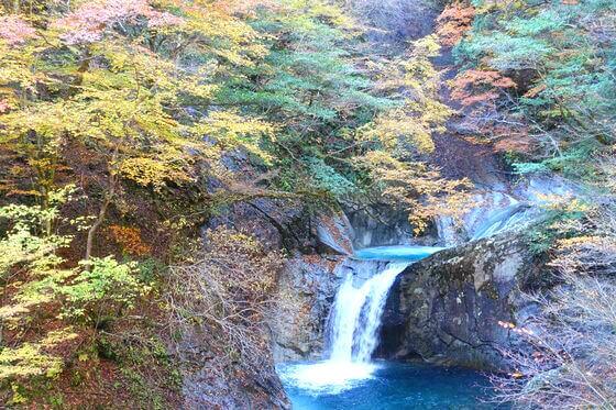 西沢渓谷 竜神の滝 紅葉