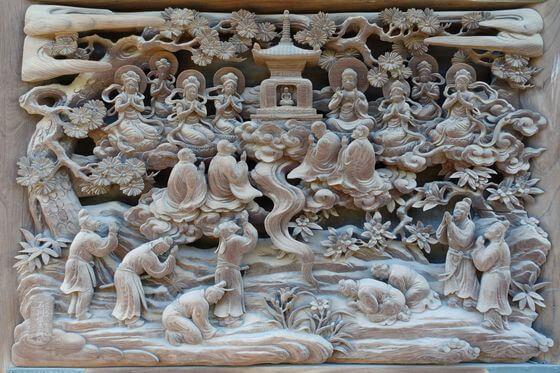 題経寺 彫刻