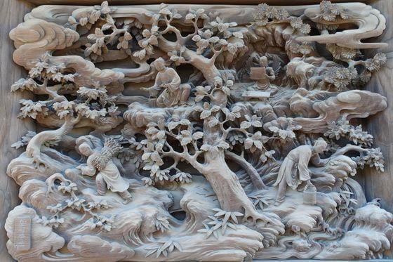 題経寺 彫刻ギャラリー