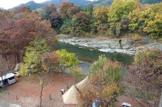 長瀞オートキャンプ場 紅葉