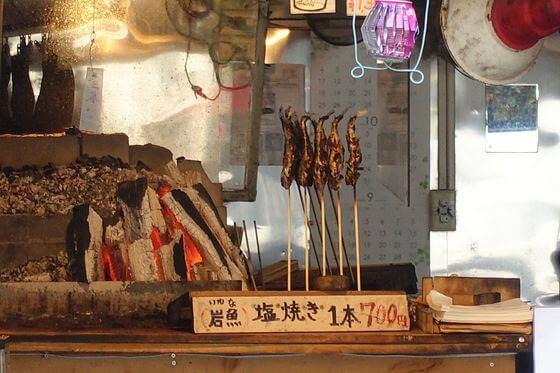白糸の滝 軽井沢 岩魚の塩焼き