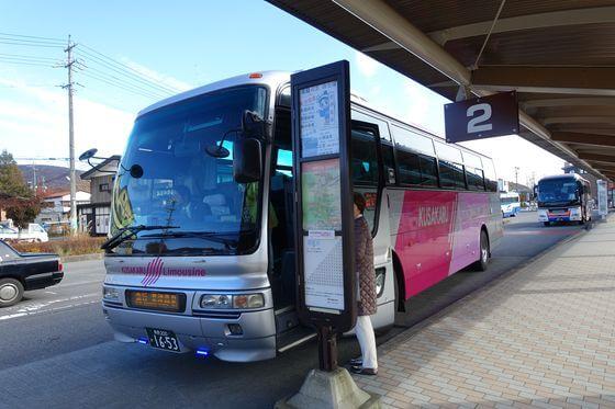 白糸の滝 軽井沢 バス