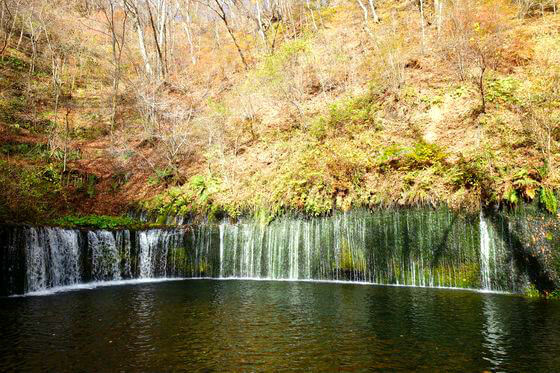 白糸の滝 軽井沢 紅葉