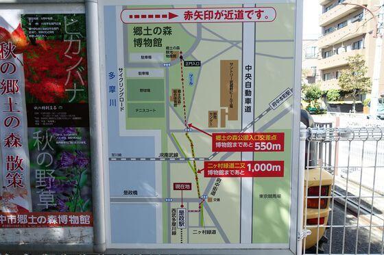 是政駅 郷土の森博物館 地図