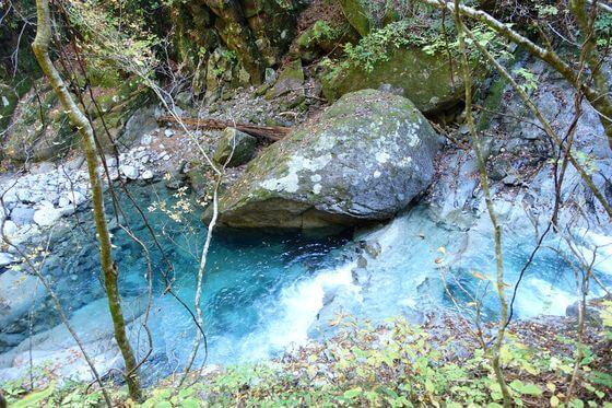 フグ岩 西沢渓谷