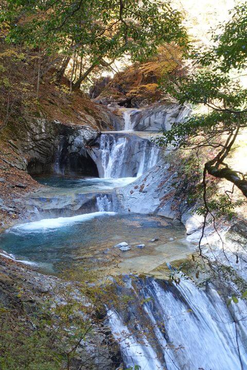 七ツ釜五段の滝 西沢渓谷