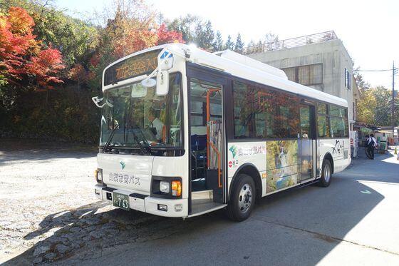 西沢渓谷 バス